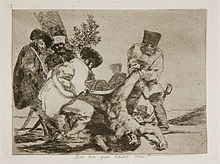 Francisco Goya, ''Los Desatres de la Guerra'' is a set of 80 aquatint prints created in the Caption - Plate Spanish: Qué hai que hacer mas? English: What more can one do? Francisco Goya, Jake And Dinos Chapman, Jacques Callot, Spanish Painters, Art Database, Office Art, Old Master, Gravure, Ancient Art