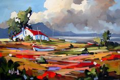 Artwork of Carla Bosch exhibited at Robertson Art Gallery. Original art of more than 60 top South African Artists - Since Cool Paintings, Beautiful Paintings, West Art, Cottage Art, Landscape Artwork, Impressionist Paintings, Canvas Artwork, Photo Art, Art Gallery