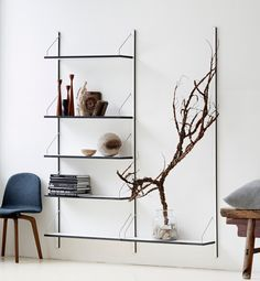 The ROYAL SYSTEM® shelving system by dk3 #interiors #minimal