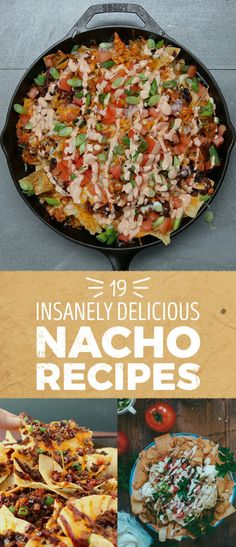 For The Nacho Lover In All Of Us For all the nacho lovers here are 19 recipes that'll make your mouth water!For all the nacho lovers here are 19 recipes that'll make your mouth water! Quesadillas, Mexican Food Recipes, Dinner Recipes, Nacho Recipes, Yummy Recipes, Water Recipes, Breakfast Nachos, Vegan Nachos, Buzzfeed Tasty