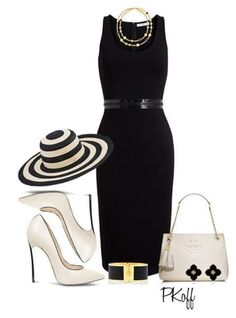 A fashion look from July 2015 featuring sleeveless dress, black shoes and zippered tote bag. Browse and shop related looks. Classy Outfits, Chic Outfits, Pretty Outfits, Beautiful Outfits, Fashion Outfits, Fashion Trends, Spring Outfits, Fashion Tips, Fashion Moda