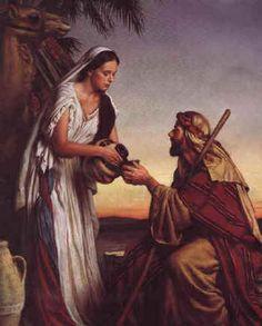 Rachel and Jacob. Genesis 29:9-12