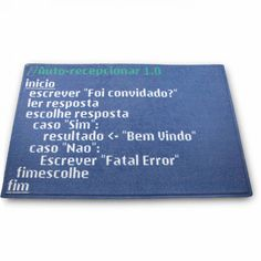 CAPACHO CÓDIGO FONTE - Capacho Código Fonte: siga as instruções e aperte o enter.