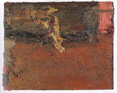 Reclining model in studio. Frank-Auerbach.