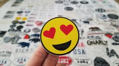 Heart eye emoji brandy Melville sticker Brandy Melville Stickers, Preppy Stickers, Eyes Emoji, Heart Eyes