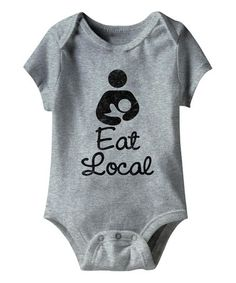 Gray Heather \'Eat Local\' Bodysuit