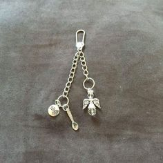 Angel, Spoon and Hope Keyring / Bag Charm - Clear