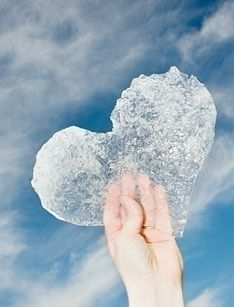 Easy romantic gifts, make your own ice hearts , if you live somewhere warm place a tray of water in the freezer then cut out the shape once it has iced, to give or the photograph , let the girl or guy of your dreams know they have melted your heart.