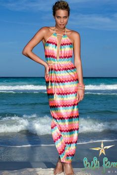 $142 Luli Fama Swimwear 2014 'La Fama' Maxi Dress | The Orchid Boutique