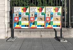 neo neo - graphic design - switzerland - geneva - 1er août - fête nationale suisse – Swiss National Day – graphisme - Thuy-An Hoang - Xavier Erni