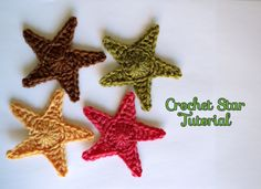 how to crochet a star photo tutorial
