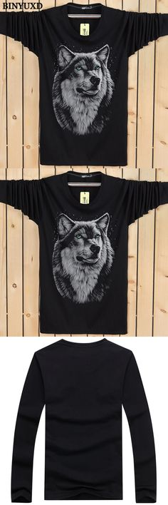BINYUXD Wolf T-shirt Mens 5XL 3d Funny Printed Male T-shirts Brand Clothing 2017 Fashion Summer Autumn Tee White Black