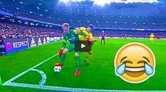 Szalone dryblingi, triki piłkarskie bramkarzy • Kiedy bramkarz myśli, że jest najlepszym piłkarzem na świecie • Wejdź i zobacz film >> #funny #football #soccer #sports #pilkanozna #futbol