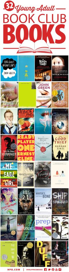 32 Young Adult Novels for Book Clubs #YA via @Heather Creswell Flores Price Books Blog - HPB.com