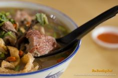 I love the accompanying ingredients like the soybean sticks, bean puffs and the crunchy wood ears. The broth was richly infused with the her...