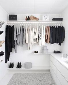 """879 Beğenme, 16 Yorum - Instagram'da malu schifflers (@apartamento.607): """"{inspo} mais um closet aberto, mas tem que ser muito organizado e detalhista pra manter assim né?…"""""""