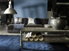 Gray & Blue industrial feel