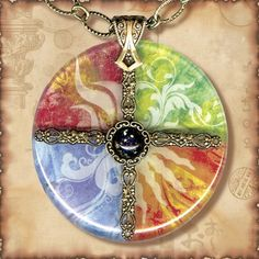 Symbolz- The Ancient Mysteries Collection - Glass Charm Necklace- The