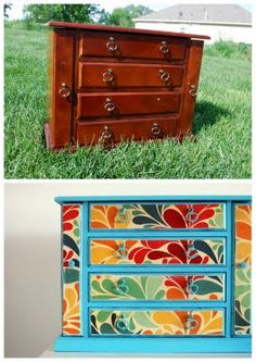 Love this jewelry box. Is this painted? Mod podged with craft paper? Both? I wanna do it to mine.