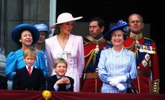 Young Will and Harry stood on the balcony of Buckingham Palace with the rest of the royal family after the Trooping the Colour ceremony in June 1989.