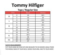 26 Best Name Brand Clothing Size Charts