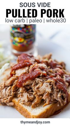 Make the most perfectly tender and juicy Sous Vide Pulled Pork using the sous vide cooking method. This BBQ pulled pork is a perfect meal that is both budget friendly and freezer friendly. Pair with any side for a quick and easy dinner. It makes great leftovers too! Whole30 Recipes, Pork Recipes, Real Food Recipes, Sous Vide Pork, Sous Vide Cooking, Healthy Summer Recipes, Spring Recipes, Healthy Pulled Pork, Meal Prep For The Week