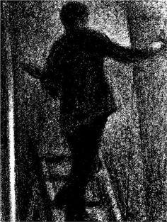 Artist at work - Georges Seurat  Fecha de finalización: 1884  Lugar de creación: France  Estilo: Posimpresionismo  Genero: escena de género  Técnica: crayón  Material: paper  Galeria: Philadelphia Museum of Art, Philadelphia, PA, USA  Etiquetas: arts-and-crafts, male-portraits