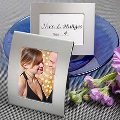 Matte+Silver+Metal+Place+Card/Photo+Frames