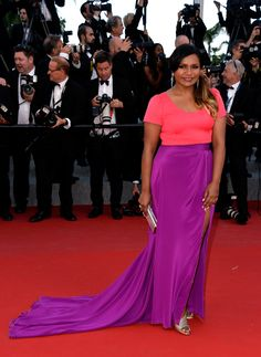 "There's nothing digesting about this outfit! Actress Mindy Kaling attends the Premiere of ""Inside Out"" during the 68th annual Cannes Film Festival on May 18, 2015 in Cannes, France."
