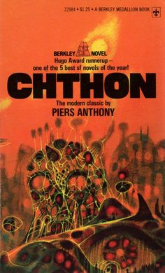 Chthon, Piers Anthony (1975 edition), cover by Richard Powers