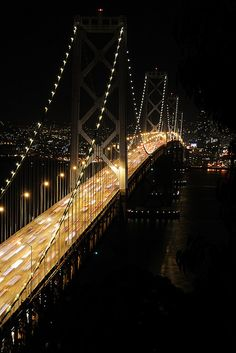 Bay Bridge illuminated, San Francisco