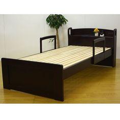 Nordic Bed 42%OFF すのこベッド北欧風シングルベッド足付き棚付き インテリア 雑貨 家具 Modern ¥24200yen 〆11月14日