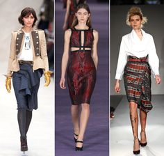 Burberry, Christopher Kane and Vivienne Westwood AW12 © Rex