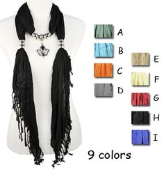 UK royal mark pendant scarf shawl jewelry scarves 9 colors wholesale