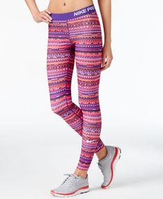32aec83e68 Nike Pro Hyperwarm Printed Dri-FIT Leggings & Reviews - Pants & Capris -  Women - Macy's