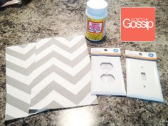 DIY Chevron Lightswitch & outlet cover