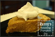 My Grandmother's Famous Pumpkin Pie recipe! This is a family recipe that has been handed down through the generations. It is not baked, and has a smooth creamy texture to it. Wonderful flavor and easy!