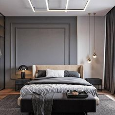 Bedroom Inspiration // Tsaunya Design The Perfect Scandinavian Style Home Master Bedroom Interior, Modern Bedroom Design, Home Room Design, Home Decor Bedroom, Apartment Interior, Apartment Design, Scandinavian Style Home, Suites, Deco Design