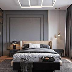Bedroom Inspiration // Tsaunya Design The Perfect Scandinavian Style Home Master Bedroom Interior, Modern Bedroom Design, Home Room Design, Home Decor Bedroom, Apartment Interior, Apartment Design, Scandinavian Style Home, Suites, Deco Design