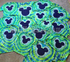 Famous Mouse Tie dye for kids lime green and by ROLLUPNDYE on Etsy, $20.00