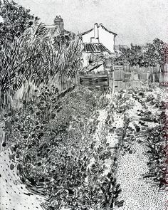 The Garden with Flowers, 1888 Vincent van Gogh