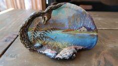 Primitive Folk Art, Country Primitive, Tree Mushrooms, Stuffed Mushrooms, Still Life Oil Painting, Rock Painting, Birch Bark, Outsider Art, Paint Cans