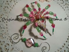 Treasures-byTiziana-Christmas-Legend-Tarantula-Beaded-Pink-Flower-Girl-Spider