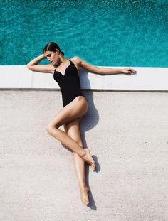 Black one-piece swimsuit | Ammaru | VSCO