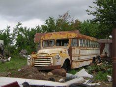 old yellow school bus