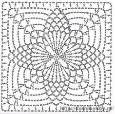 Crochet square motifs Motivi per uncinetto