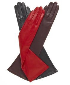 Free USA Shipping and Free Returns on Fratelli Orsini Women's Italian 8 Button Length Silk Lined Leather Gloves at Leather Gloves Online. The largest selection of Fine Leather gloves anywhere. Red Gloves, Leather Gloves, Lambskin Leather, Long Gloves, Elegant Dresses For Women, Leather Dresses, Leather Fashion, Women's Fashion, White Leather