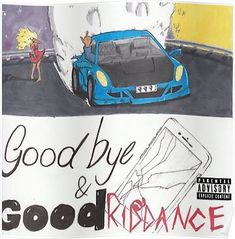 'Juice Wrld - Goodbye & Good Riddance' Canvas Print by Gregos - - Rap Album Covers, Iconic Album Covers, Music Covers, Box Covers, Bedroom Wall Collage, Photo Wall Collage, Picture Wall, Bedroom Decor, Rap Albums