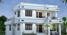2166 square feet 4 bedroom modern house with an estimated cost of ₹36 Lakhs