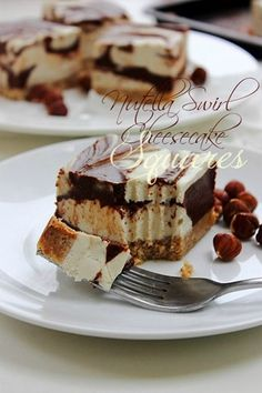 Paleo Nutella Swirl Squares